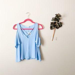 NWT Lush Light Blue Blouse Top Size XS